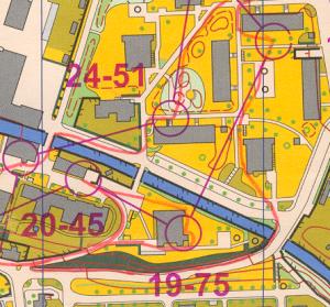 Detail chyby při sprintových štafetách